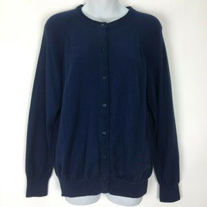 Vintage Designers Originals Blue Cardigan Sweater